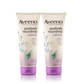 Aveeno Positively Nourishing Lavender And Chamomile Calming Body Lotion, 7Oz. 2pk.